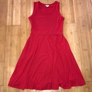 New! LulaRoe red Nicki Dress